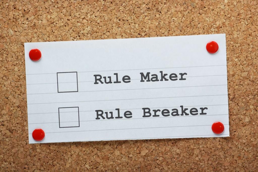 Rule Maker or Rule Breaker Tick Boxes