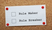 Rule Maker or Rule Breaker Tick Boxes